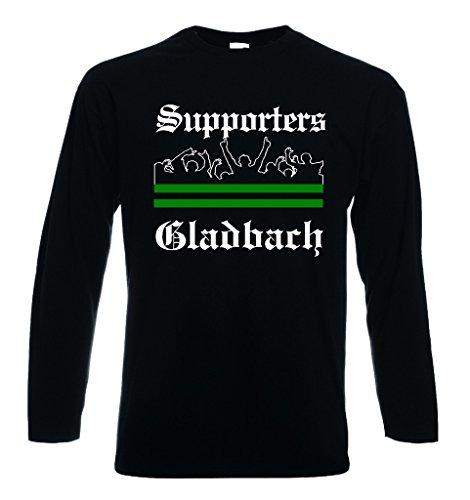 world-of-shirt / Herren Longsleeve T-Shirt Gladbach Ultras Supporters|XXXL