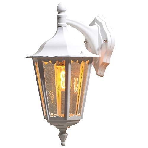 Konstsmide Firenze 7212-250 - Lámpara de Pared (23,5 x 30 x 48 cm, 1 x 100 W, IP43), Color Blanco Mate