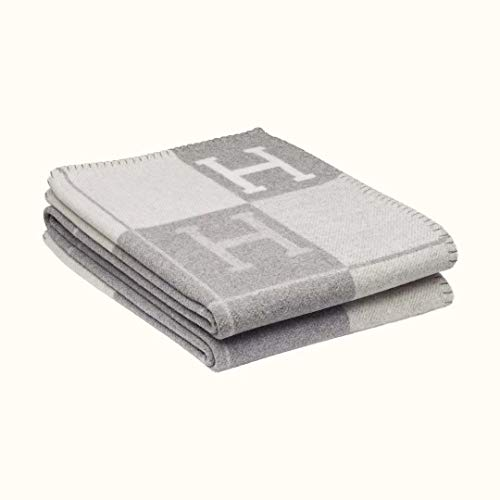 Coobal Fleece Throw Blanket Soft Cozy Lightweight Plush Bed Blanket,Microfiber Flannel Blanket for Couch,Stripe Gray