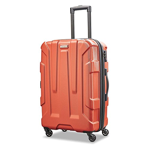 Samsonite Centric Hardside Expandable Luggage with Spinner Wheels, Burnt Orange, Checked-Medium 24-Inch