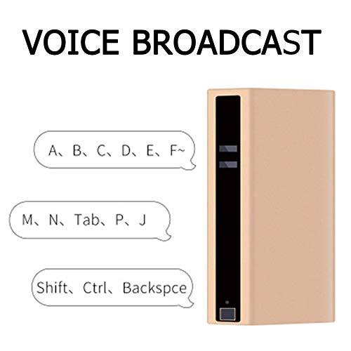 PC用ミニ仮想キーボード、音声ブロードキャスト付きワイヤレス有線Bluetoothプロジェクションキーボード、5200mAhモバイル電源、オフィス/カフェ/教室用(Color:A)