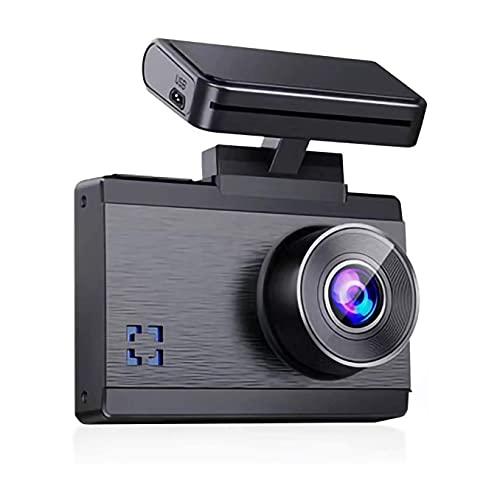 XIXIDIAN Grabadora de Conducir, cámara de automóviles 1296P Frontal y Trasera, grabadora de conducción de 140 ° de Ancho, Pantalla táctil OLED de 3 Pulgadas, Sensor de Movimiento, Sensor G, grabación