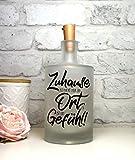 Leuchtflasche, Flaschenlicht, bottle light'Zuhause ist nicht nur ein Ort es ist ein Gefühl!' mit...