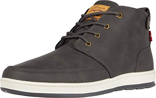 Levi's Mens Atwater Waxed UL NB Casual Sneaker Boot, Charcoal, 12 M