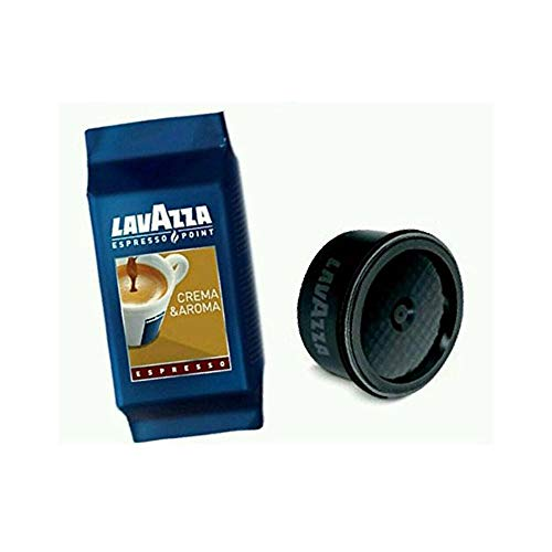 Lavazza Espresso Pt. Crema E Aroma, Espresso Capsules, Count of 100, Brown ,Value Pack, Blended and roasted in Italy, Intense medium roast with a strong body and long lasting flavor
