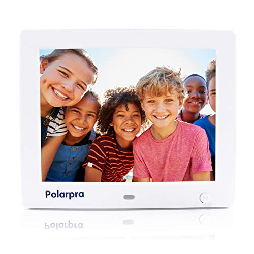 Digital Picture Frame 8 Inch,Electronic Picture Frame HD LCD 800x600 Widescreen Smart Digital Photo Frame 720P/1080P Video Picture with Motion Sensor/Alarm/Auto-Rotate/SD&USB Port/Wall Mountable-White Digital Frames Picture