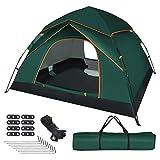 UOUNE Tente de camping 3-4 personnes - Tente dôme étanche et anti-UV - Tente ultra légère pour jardin familial, camping, trekking