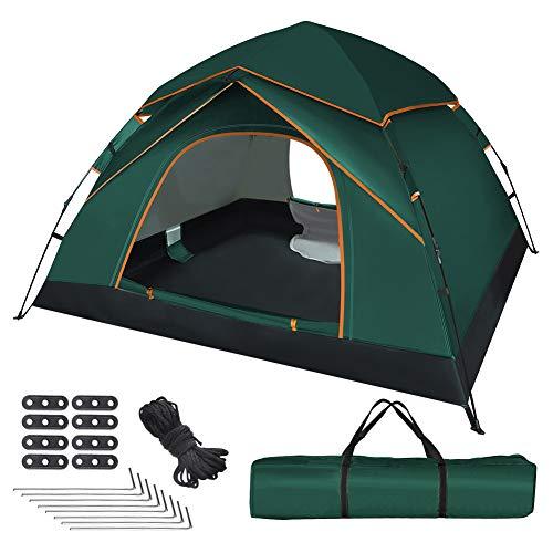 UOUNE Tienda de campaña para 3 – 4 personas, impermeable, ultraligera, protección UV, para jardín familiar, camping o senderismo