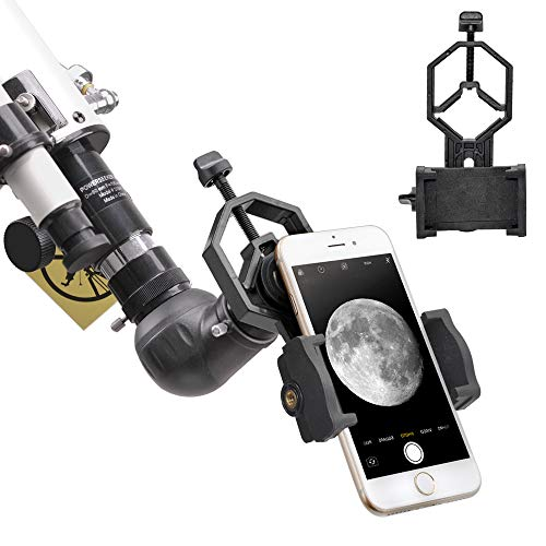 Starboosa Telescope Adapter Camera Mount, Smartphone Mount, Work with Telescope Spotting Scope Microscope Monocular Binocular - Fits iPhone, Samsung, HTC, LG and Smartphone (Camera Adapter-C1)