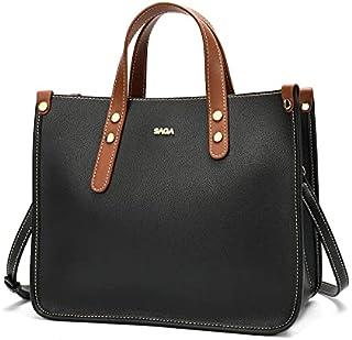 حقيبة نسائية جلد بتصميم عملي وأنيق من SAGA