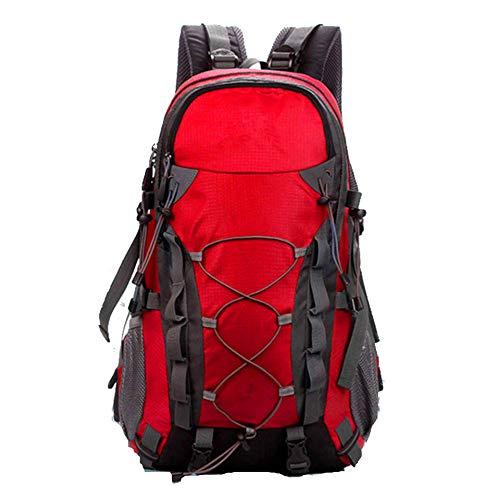 AMSIXB Zaino da Arrampicata, Multifunzione, Impermeabile, Resistente, per Esterni, Campeggio, Escursionismo, Sport, Colore: Rosso
