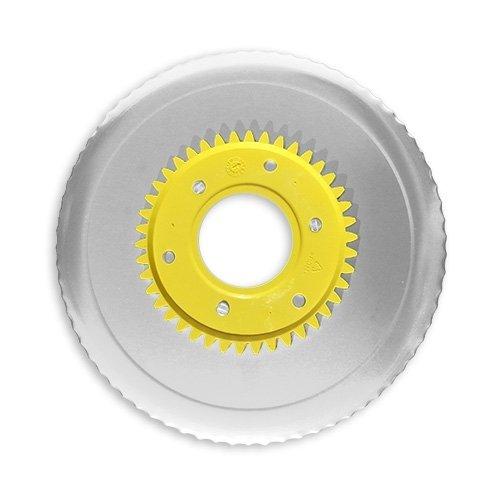 Wellenschliffmesser elektrolytisch poliert gelb für RITTER Multischneider compact 1, markant 01, markant 05 / Allesschneider / Messer / Ersatzmesser / Aufschnittmesser