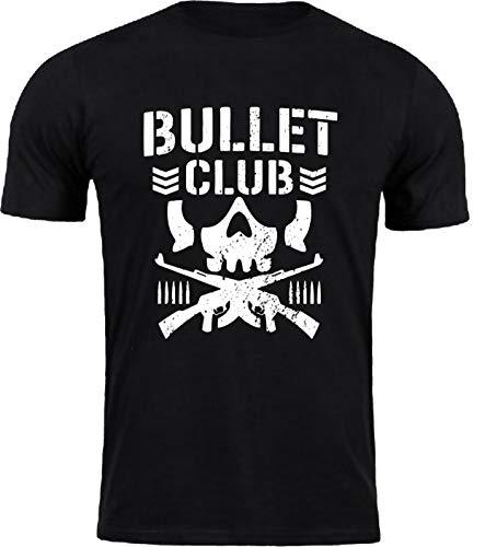 Bullet Club T-Shirt Gym Workout Japan Pro Wrestling MMA WWE UFC Fight Mens Top (Black, M)