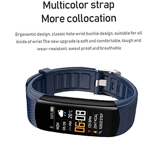 LWWL-Accessories Smart Watch Band Tracker Watch C5S Waterproof Smart Bracelet Smart Wristwatch Heart Rate Blood Pressure Fitness Tracker Blue