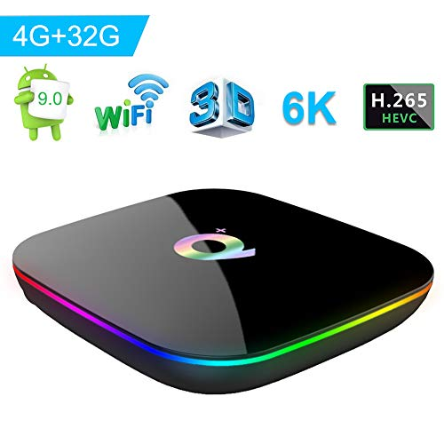 Android 9.0 TV Box, Q Plus Smart Android Box con Allwinner