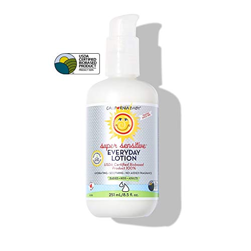 California Baby Super Sensitive Everyday Face and Body Lotion (8.5 oz.) Moisturizer for Dry,...