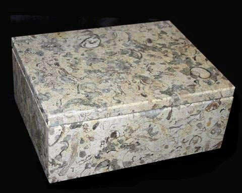 Decorative Coral Stone Box, Traditional Coral Gift for 35th Wedding Anniversary