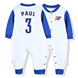 NIUPUPU Camiseta de Baloncesto de la NBA Lebron Raymone James 23 Kawhi Leonard 2 George Johnson13 Chris Paul 3 Baby Rompers Creepers Sports Fan