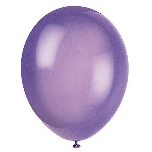 Unique Party-56855 Globos de Látex de 30 cm, color morado (midnight purple), pack de 50 (56855)
