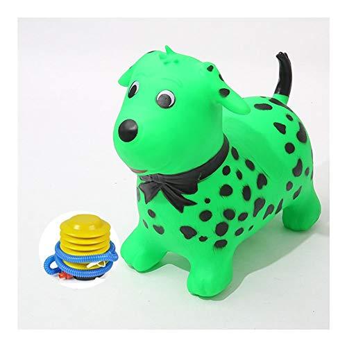 JISHIYU Cartoon Dog Shape Jumping Ride On Toy Hopper Great Stability Balance Training and Motor Development For Indoor/Outdoor Play Send air pump Cartoon frog (Color : Green)