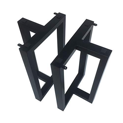 Noga stołowa spinka do włosów, wytrzymałe podwójne spawane nogi stołowe czarne, zestaw dla 2 osób, dla majsterkowiczów biurko domowe biurko stolik nocny, metalowe nogi stolika kawowego