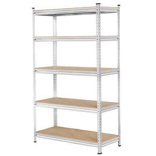 Yaheetech Industrial Storage Shelves 5-Tier Heavy Duty Shelving Garage Shelf Steel Metal Adjustable Shelves Unit Multi-Use Storage Rack, 35.4 x 23.6 x 70.9in