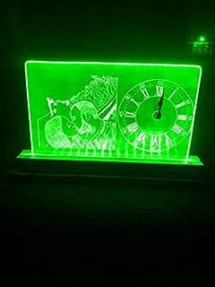 lampada orologio personalizzata (blu rosso verde giallo bianco, Art Deco)