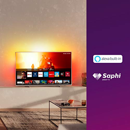 Televisor 4K UHD Ambilight Philips 50PUS7855/12 de 50 pulgadas (P5 Perfect Picture Engine, Asistente Alexa integrada, Smart TV, Función de control por voz), Color plata claro (modelo de 2020/2021) miniatura
