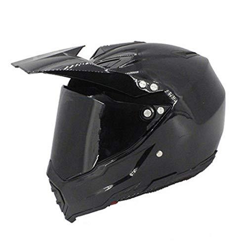 XIUJC Cascos de Cara Completa y BMX Casco Ligero de Motocross ATV para Hombre Casco de Equipo de protección Four Seasons Street Bike Racing Crash Helmet