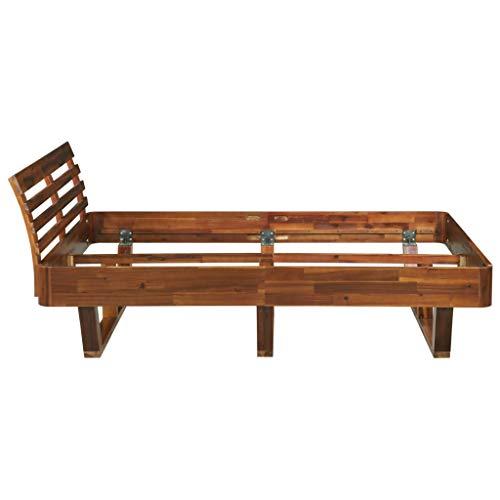 Tidyard Bettgestell Holzbettrahmen Bett Massivholzbett Bettgestell Massivholz Akazie 140×200 cm