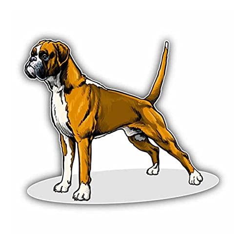 MDGCYDR Adesivo per Auto Cane 14 * 12 Cm Bella Boxer Razza Cane Adesivo per Auto Animale Accessori Moto PVC Decorativo Impermeabile Decalcomania