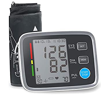 ALPHAGOMED Accurate Blood Pressure Monitor for Arm Adjustable BP Cuff  21 inch Cuff Long for Home Use Automatic Upper Arm Digital Machine 180 Sets Memory Includes Batteries and Carrying Case