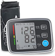 ALPHAGOMED Accurate Blood Pressure Monitor for Arm Adjustable BP Cuff for Home Use Automatic Upper Arm Digital Machine 180 Sets Memory Includes Batteries and Carrying Case