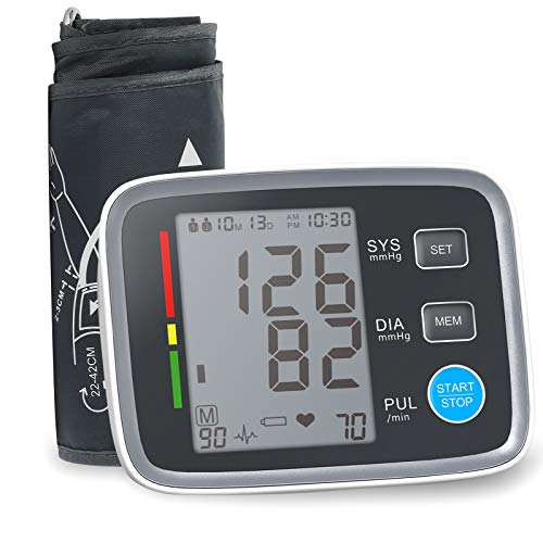 ALPHAGOMED Accurate Blood Pressure Monitor for Arm Adjustable BP Cuff (21 inch Cuff Long) for Home Use Automatic Upper Arm Digital Machine 180 Sets Memory Includes Batteries and Carrying Case