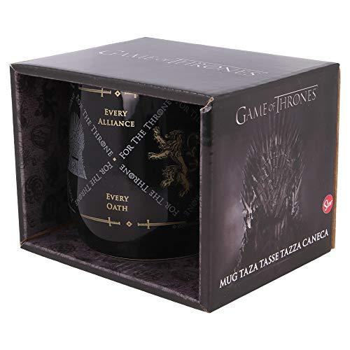 Stor Tazza in ceramica Nova 360 ml Il Trono di Spade in confezione regalo, colore: nero, misura media