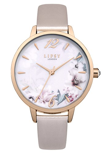 Lipsy Damen Datum klassisch Quarz Uhr mit PU Armband LP547