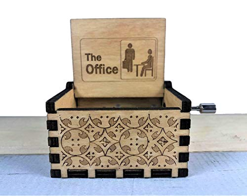 The Office Engraved Wooden Music Box