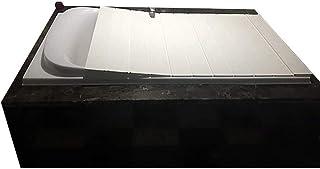 バスタブボードバスタブカバー防塵折りたたみダストボードバスタブ絶縁カバーPVCバスルームトレイ(サイズ:150800.6cm)