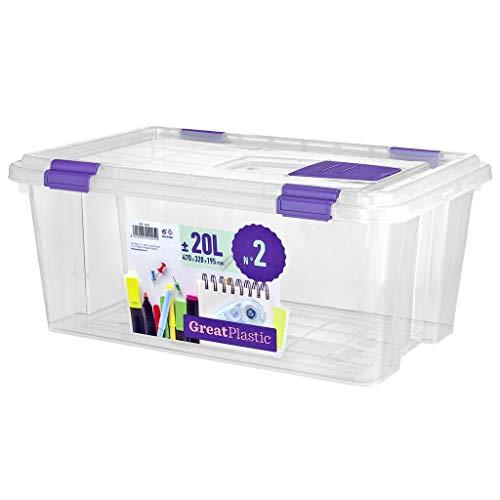 Great Plastic Caja de plastico Cerrada, Neutro, pequeño