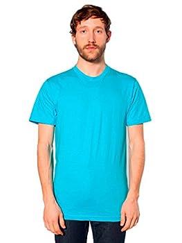 American Apparel Unisex Fine Jersey Short Sleeve T-Shirt Turquoise Medium
