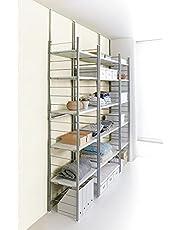 家具 収納 本棚 ラック シェルフ メタルラック スチールラック 突っ張り式高さ調節シリーズ シェルフラック 幅90奥行30cm 591505
