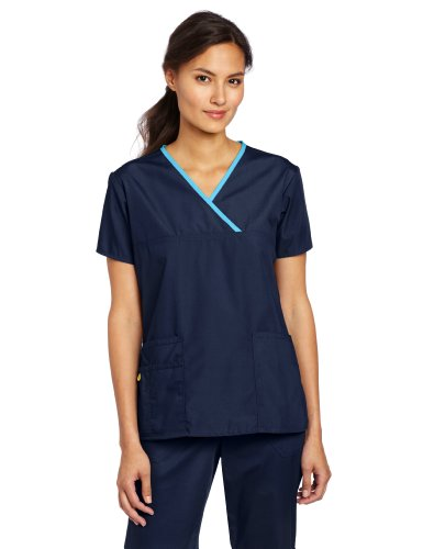 WonderWink womens Only Tops medical scrubs shirts, Navy, X-Large US