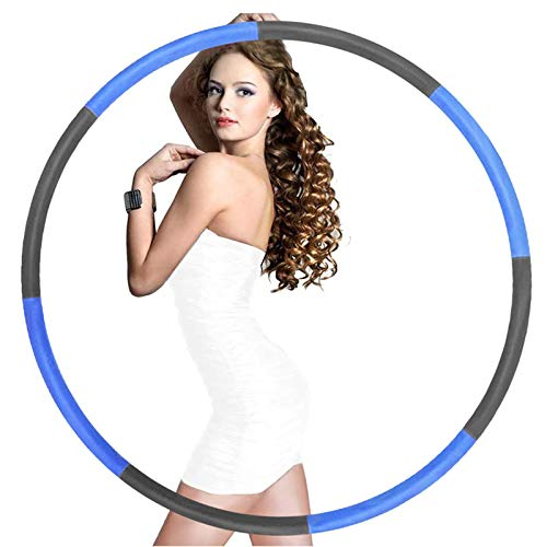 of professional hula hoops Raoccuy Exercise Hoop For Adults Jump Rope - Weighted Exercise Hoop For Exercise,8 Section Detachable Design-Professional Soft Fitness Exercise Hoop