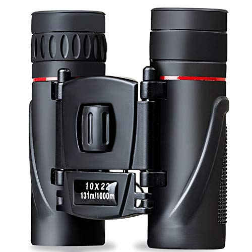 Binoculars Compact Powerful Binoculars for Adults Kids for Outdoors Sports Traveling Sightseeing Bird Watching Folding Lightweight Binoculars(One Size, Black)