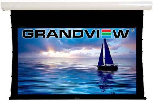 Grandview Cyber Series 92' Electric Motorised Automatic and Tab Tensioned 16:9 Projector Screen With Remote Control - for 1080p, high definition, 4k, 3D, HD, LCD, D-ILA, DLP projection - Wall and ceiling mount options.