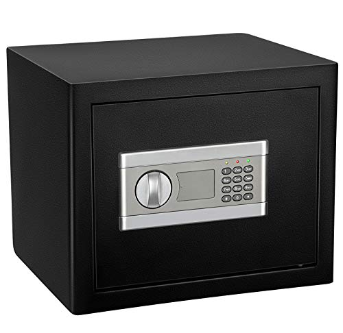 Kacsoo Electronic Security Safe - Caja de caudales, impermeable, ignífuga y confidencial, de acero, para pared, para el hogar, oficina