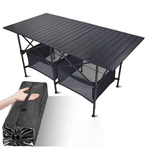 JONJUMP Mesa plegable al aire libre de la silla de camping de aleación de aluminio barbacoa mesa de picnic impermeable durable plegable mesa escritorio