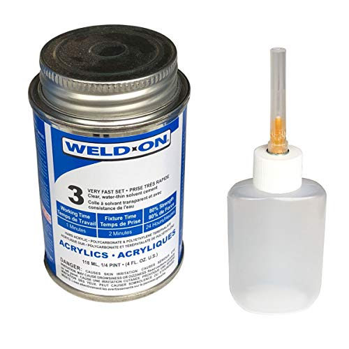 IPS Weld-On 3 Acrylic Plastic Cement with Weld-On Applicator Bottle