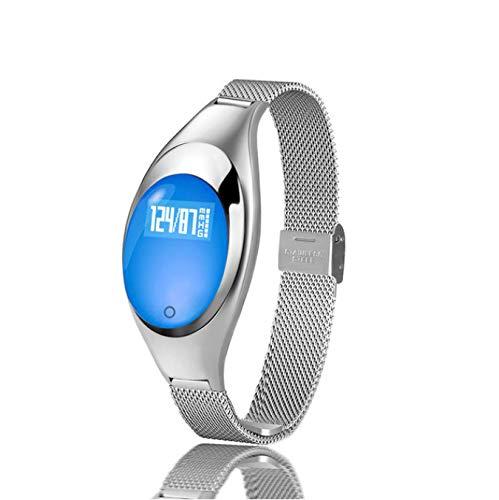 HPYHPY Smart Pulsera corazón Monitor señoras Hombres Impermeable colesterol Monitor presión Arterial medición Reloj Inteligente