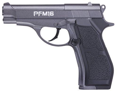 PFM16 Pack Crosman Pistola de Aire comprimido (CO2) y balines de Acero (perdigones BBS) Calibre 4.5mm. Réplica Beretta 84 Full Metal